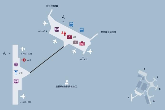波士顿logan国际机场地图-美东旅游攻略-美洲行旅游